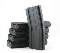 King Arms 300 rundet Wind-up-Metall-Magazine für M4 / M16 AEG (schwarz, 5pcs / box)