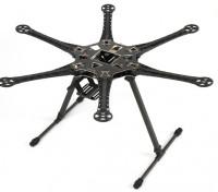 S550 Hexcopter Rahmen Kit mit integrierter PCB 550mm (Schwarz)