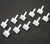 Nylon Rändelschrauben M4 x 12mm White (10 Stück)