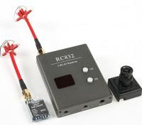 Skyzone P & P 25mW Set w / TS5825 Tx, RC832 Rx und Sony 480TVL CCD-Kamera und C / P-Antennen