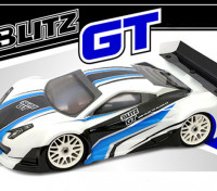 BLITZ 1/8 GT E / P Light Body Shell mit Flügel (1,0 mm)