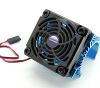 Turnigy Kühlkörper mit Lüfter für 36 Reihenmotoren.