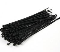Kabelbinder 200mm x 4mm Schwarz (100pcs)