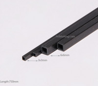 Carbon-Faser-Square Tube 750x3mm