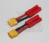 HXT 4mm bis XT-60 Batterie-Adapter (2 Stück / bag)