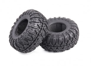 Tri-Pattern 1.9 Beadlock Crawler Tyres Soft Compound with Foam Inserts (2 tires and 2 inserts)