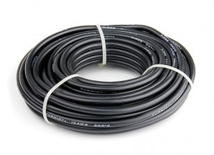 Turnigy High Quality 10AWG Silicone Wire 10m (Black)