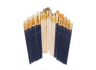30 Pieces Paint Brush Starter Set
