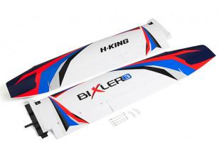 H-King Bixler 3 Glider 1550mm - Replacement Wing (Blue/Red)