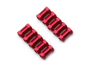 3x10mm Alu. geringes Gewicht runden Ständer (rot)