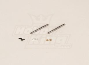 GT450PRO Blattlagerwelle (51x4mm) 2 Stück