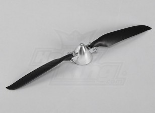 Faltpropeller W / Alloy Hub 40mm / 3mm Welle 10x6 (1pc)