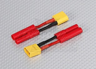 XT-60 bis 4 mm Batterie-Adapter-Kabel (2pc) hxt
