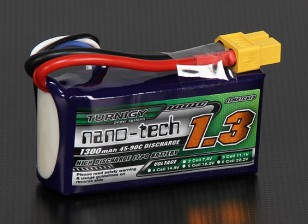 Turnigy Nano-Tech-1300mAh 3S 45 ~ 90C Lipo-Pack