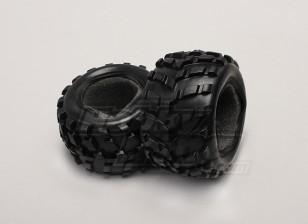 Reifen w / Schaum-Einsätze (2ST / bag) - 1/18 4WD RTR Short Course Truck
