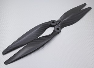 Carbon-Faser-Propeller 12x6 Black (CW / CCW) (2 Stück)