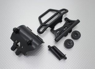 Quanum Skull Crusher 2WD - bumper-Set, Wheeliebar mit Umlenkwippe