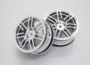 Maßstab 1:10 Hohe Qualität Touring / Drift Felgen RC Car 12mm Hex (2pc) CR-RS4C