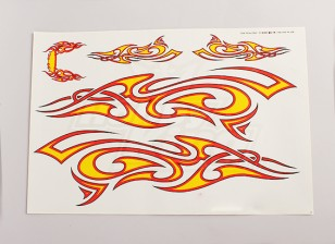 Tribal Decal Sheet Große 445mmx300mm