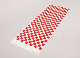 Decal Sheet Kleine Riffelmuster rot / klar 590mmx180mm