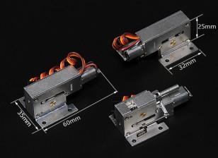 Turnigy Full Metal Servoless Retracts w / Steuerbare Naseneinheit (4mm-polig)