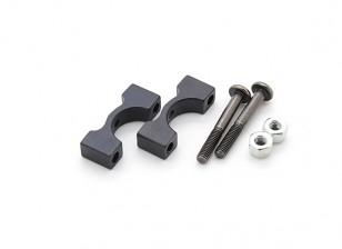 Schwarz eloxiert CNC-Aluminiumrohrklemme 10 mm Durchmesser