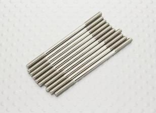 M2.5 x 50mm Stahlschubstange (10 Stück)