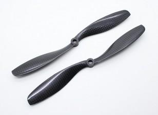 Carbon-Faser mit DJI Montage Propeller 8x4.5 Schwarz (CW / CCW) (2 Stück)