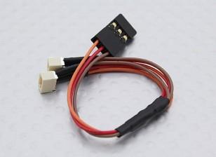 JR-Stecker auf 2 x JST (Molex) Weibliche 1.00mm (1pc)