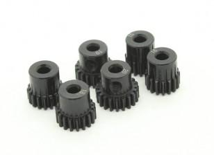 Gehärteter Stahl Pinion Gear Set 48P 3.175mm Welle zu passen (15/16/17/18/19 / 20T)