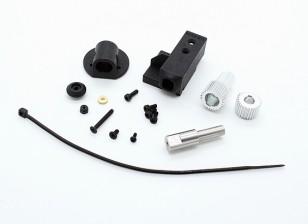 RotorBits Servo Halter Set w / Gear (Schwarz)