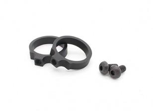 Element ex311 LR Tactical Taschenlampen-Einfassung Ringe 0.914inch (schwarz, 2pcs / pack)