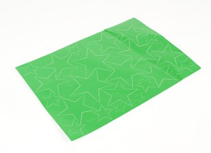 Star Pattern Self Adhesive Aufkleber-Set 420 x 300 mm (Grün) (1pc)
