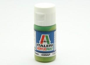 Italeri Acrylfarbe - Flat Light Grün