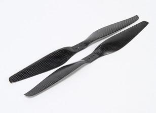 Acromodelle Carbon-Faser T-Style Propeller 12x5.5 Schwarz (CW / CCW) (2 Stück)