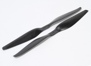 Acromodelle Carbon-Faser T-Style Propeller 14x5.5 Schwarz (CW / CCW) (2 Stück)