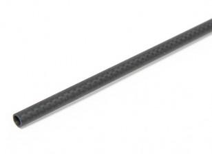 8 x 6 x 750mm Carbon-Faser-Rohr (3K) Leinwandbindung Matt-Finish