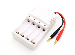 AA ~ AAA NiMH Batteriehalter mit 4 mm Bananenstecker Ladekabel