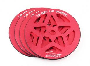 Track 1/8 Skala Set-up Wheel Set (4 Stück)