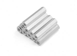 Leichte Aluminium-Hex Abschnitt Spacer M3 x 24mm (10pcs / set)