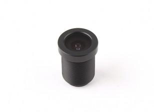 """2.5mm Brett-Objektiv, F2.0, Berg 12x0.5, CCD Größe 1/3 """", Winkel 130 °"""