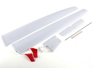 ASW 28 Segelflugzeug 2540mm - Flügel und Schwanz Set