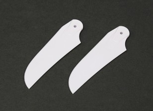 RJX Weiß 85mm Kunststoff-Heckrotorblätter (1 Paar)