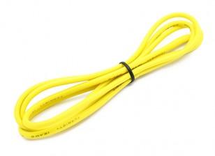 Turnigy Qualitäts-16AWG Silikonkabel 1m (Gelb)