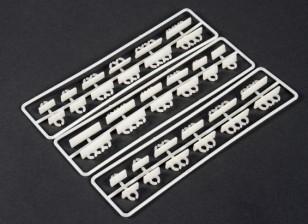 Horizontale Montage Cable Tidy Clip Set (36 Stück)