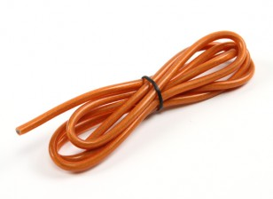 Turnigy Pure-Silikon-Draht 12AWG 1m (transluzent orange)