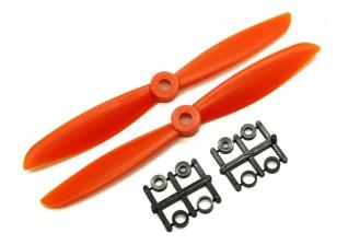 Gemfan 6045 GFK / Nylon Propellers CW / CCW-Set (orange) 6 x 4,5
