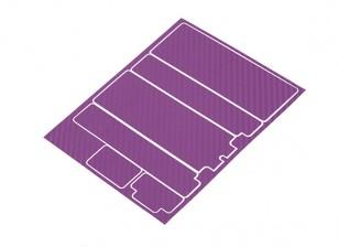 Track Dekorative Batterie-Abdeckung Panels für Standard-2S Hardcase Lila Carbon-Muster (1 PC)