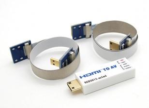 RCD 3015 Mini-HDMI zum AV-Anschluss-Konverter