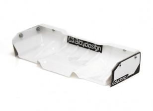 Bittydesign Zefirus Lexan Flügel für alle 1/8 Buggy / Truggy (weiß)
